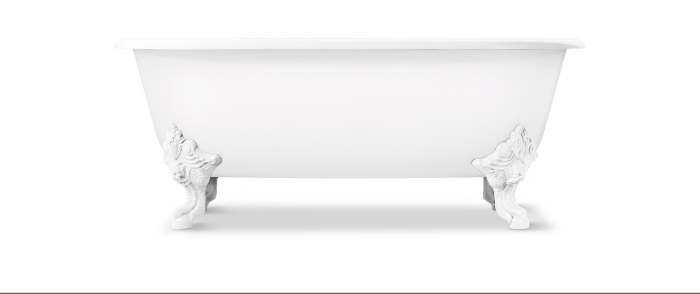 TIMELESS PAIRING   |   The Circe™ claw foot freestanding bathtub complements the elegant style of the For Town collection. This charming bath, constructed of enameled cast iron and accented with dramatic claw feet, brings a distinct look to your bathroom space.  [ DISCOVER CIRCE > ]