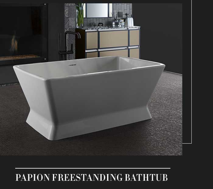 Papion freestanding bathtub